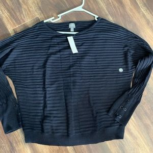 Navy Ribbed Sweater